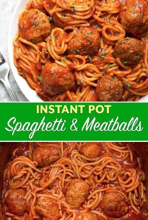 Instant Pot Spaghetti and Meatballs is a delicious one-pot meal. This pressure c...