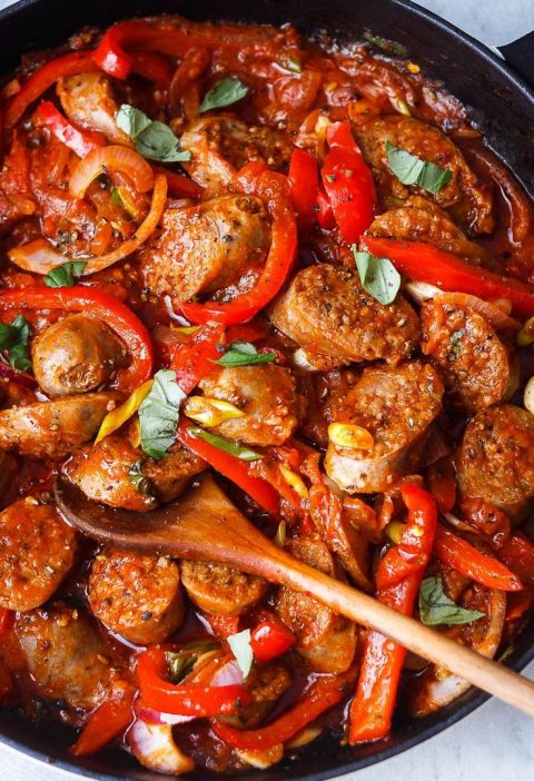 Italian Sausage and Peppers Skillet