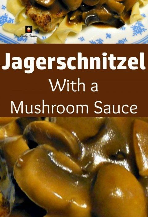 Jagerschnitzel! This is a lovely easy recipe for Pork pan fried in butter then t...