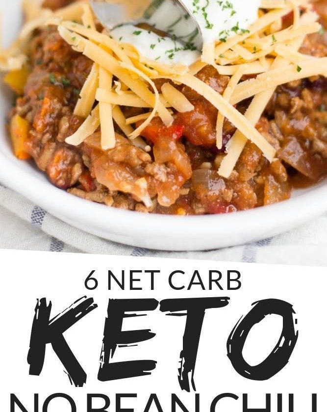 Keto Chili recipe that is whipped together in just 10 minutes and cooked all in ...