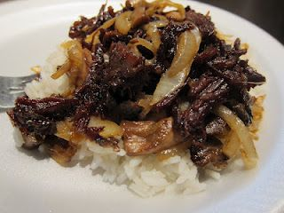 Korean beef from leftover roast! Yum!    I think I am gonna make this for dinner...