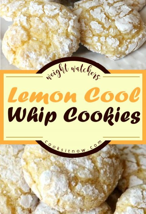 Lemon Cool Whip Cookies, Just 4 ingredients to make this delicious & easy lemon ...