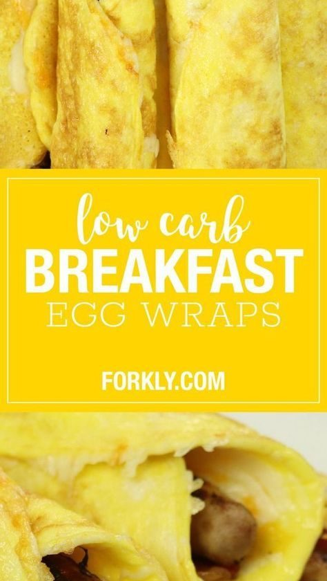 Low-Carb Breakfast Egg Wrap
