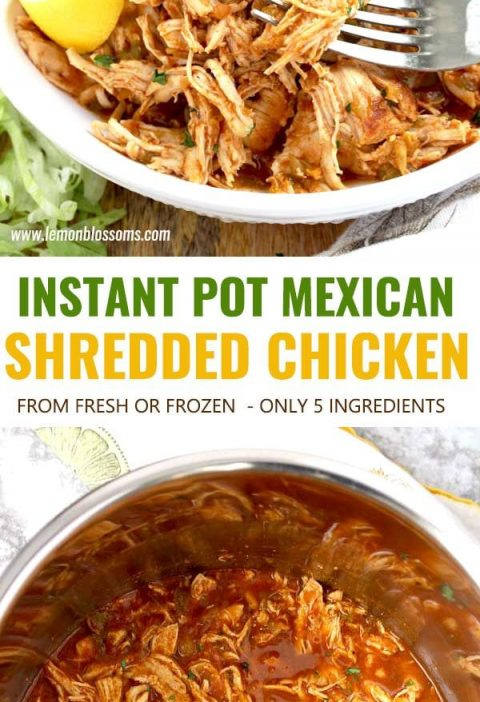 Mexican Instant Pot Shredded Chicken is a super flavorful 5-ingredient recipe yo...