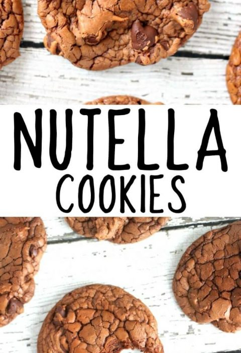 NUTELLA COOKIES - Nutella cookies are easy to make – only four ingredients –...