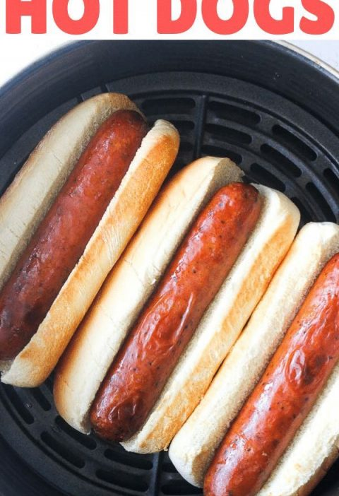 Our favorite way of making hot dogs- in the Air fryer!  Such an easy , quick way...