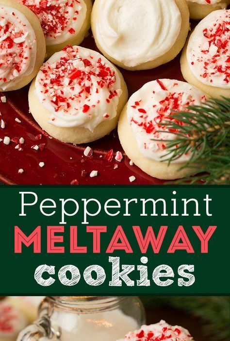 Peppermint Meltaway Cookies - A Christmas season MUST! They literally melt in yo...