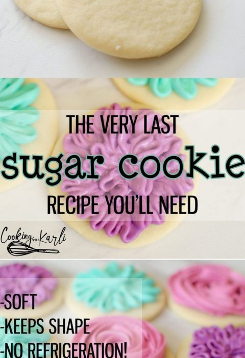 Perfect Sugar Cookie Recipe is really just that-PERFECT. These sugar cookies c...