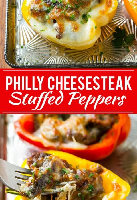 Philly Cheesesteak Stuffed Peppers Recipe | Easy Stuffed Peppers | Low Carb Stuf...