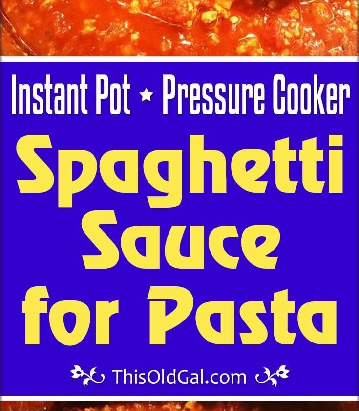 Pressure Cooker Spaghetti Sauce (Bolognese) is great for meat lovers and vegetar...