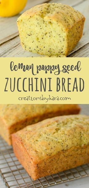 Recipe for Lemon Poppy Seed Zucchini Bread - use this tip, and no one will suspe...