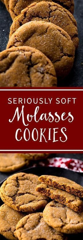 Seriously soft and chewy molasses cookies will be your favorite Christmas cookie...