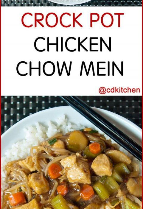 Slow Cooker Chicken Chow Mein With Water Chestnuts And Bean Sprouts - A tasty sl...