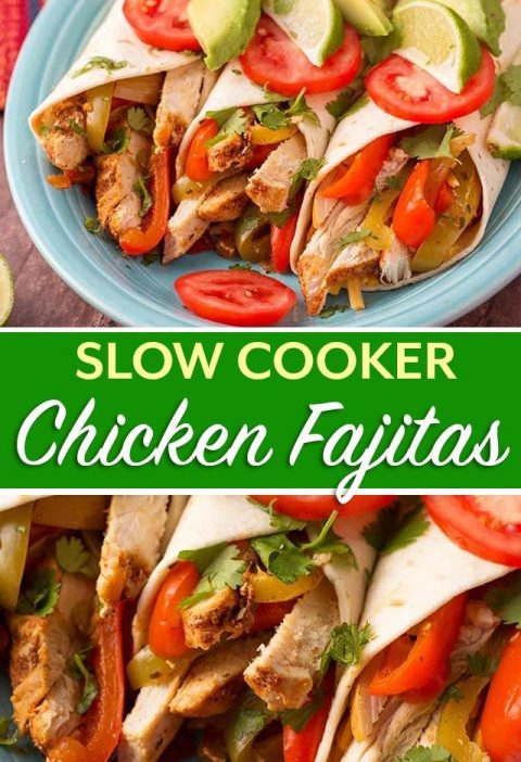 Slow Cooker Chicken Fajitas is a recipe that is easy to make and my whole family...