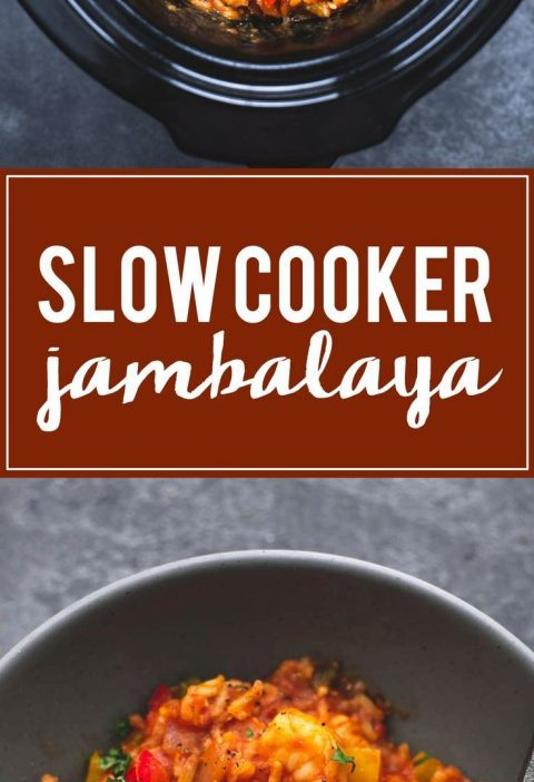 Spicy and flavorful slow cooker jambalaya is instant family favorite comfort foo...