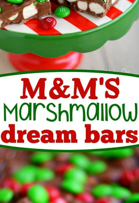 These M&M's Marshmallow Dream Bars are as easy as 1-2-3 and will disappear j...