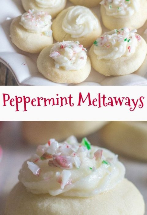 These Peppermint Melting Moments are a perfect addition to your Christmas Cookie...