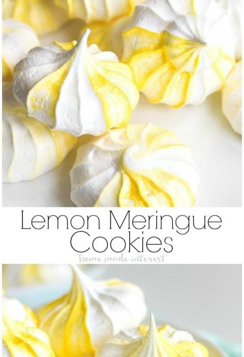 These easy Lemon Meringue Cookies, or egg white cookies, are made from egg white...