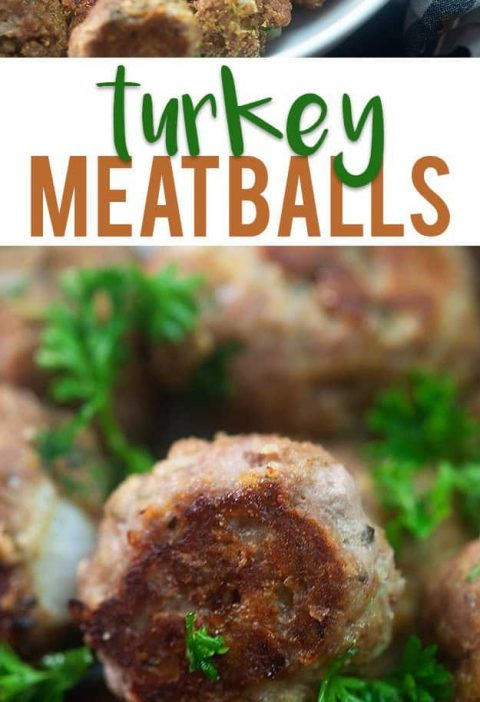 These healthy turkey meatballs are baked in the oven and are amazing served with...