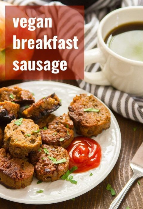 These totally vegan seitan sausage patties are made with hearty lentils, protein...