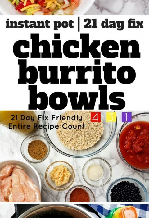 This 21 Day Fix Burrito Bowl recipe is prefect for meal prep day! Cook this Inst...