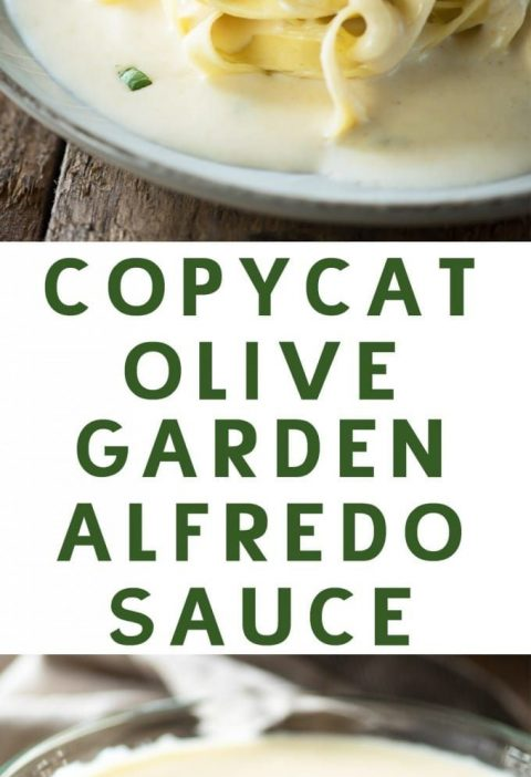 This Copycat Olive Garden Alfredo Sauce is a fast and easy dinner, and even bett...