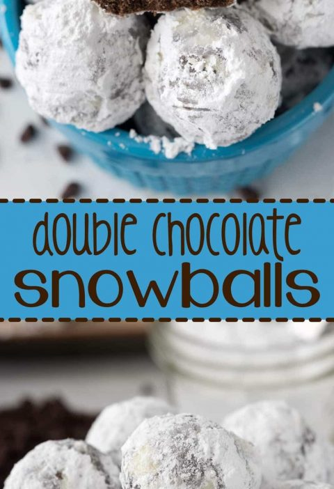 This Double Chocolate Snowball Cookies Recipe is so easy to make! The best holid...