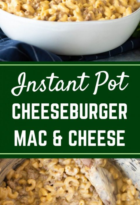 This easy Instant Pot Cheeseburger Mac and Cheese is a homemade version of your ...