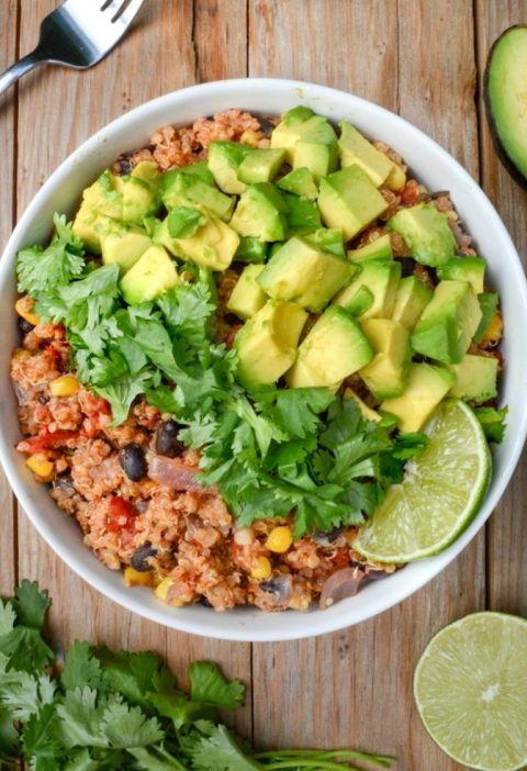This quinoa bowl is loaded with easy-to-store ingredients for a simple, healthy ...