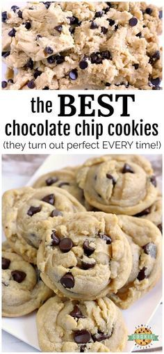 This simple recipe truly makes the Best Chocolate Chip Cookies and they turn out...