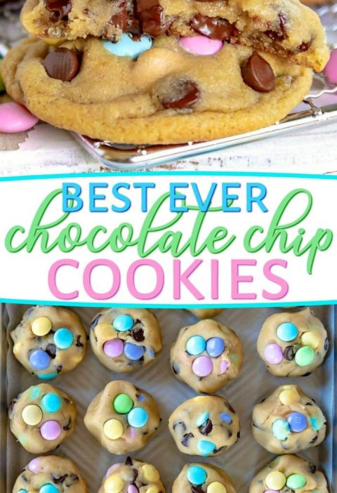 Truly the BEST Bakery Style Chocolate Chip Cookies EVER! Soft and chewy, extra t...