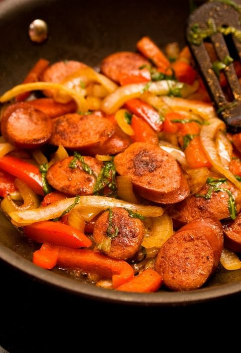 Turkey Sausage and Bell Peppers (Weight Watchers)