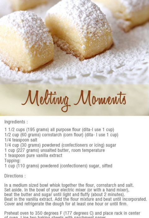 melting moments bites - to make with the kids: