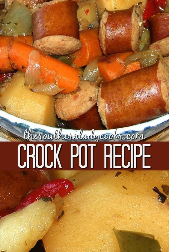 A hearty, comfort food meal made easy in the crock pot with vegetables and peppe...