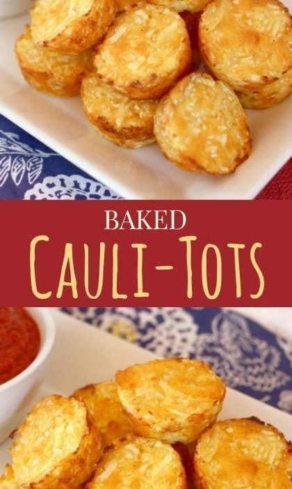 Baked Cauli-Tots - move over tater tots, there's a healthier and veggie-packed n...