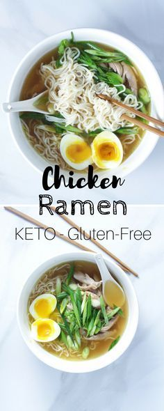 Easy Keto Chicken Ramen - This low-carb ramen recipe requires very little work a...