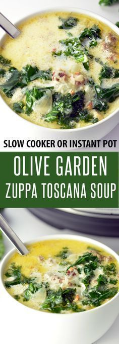 Fully Loaded Olive Garden Zuppa Toscana Soup Recipe! Make in the Slow Cooker or ...