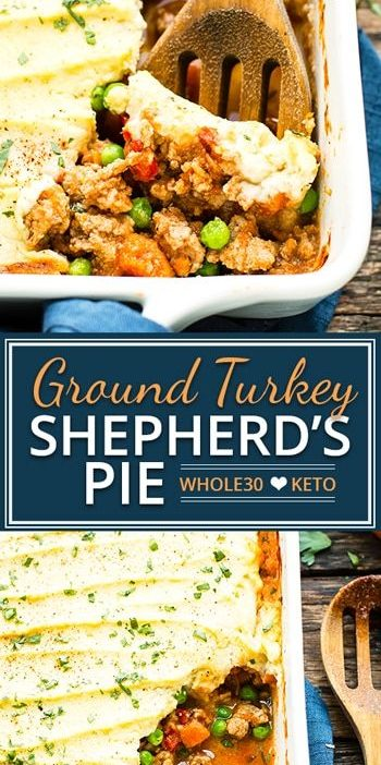 Ground Turkey Shepherd's Pie