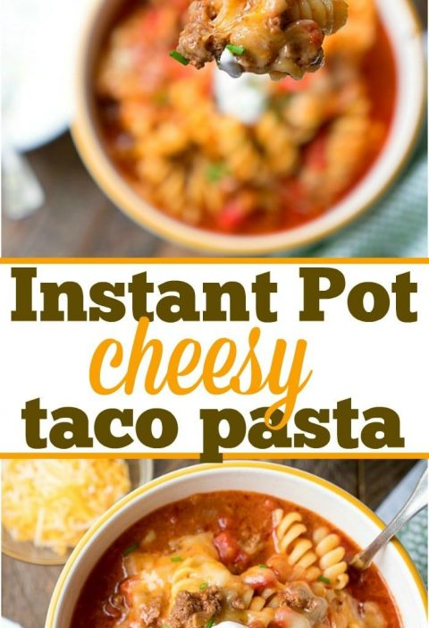 Here is a really easy Instant Pot taco casserole recipe that is full of flavor a...