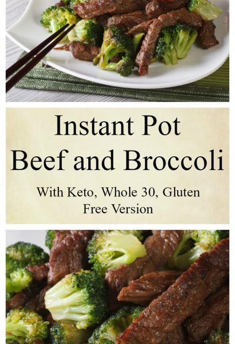 Instant Pot Beef and Broccoli with Keto Option