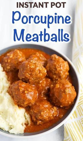 Instant Pot Porcupine Meatballs are a tasty and fun meal that kids and adults li...