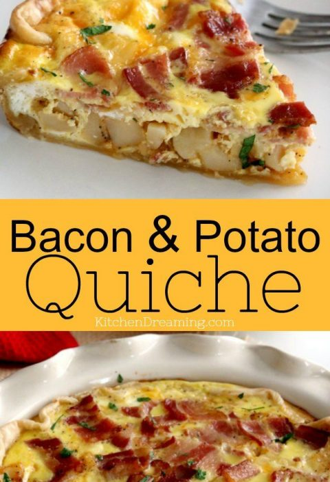 Loaded Bacon & Potato Quiche