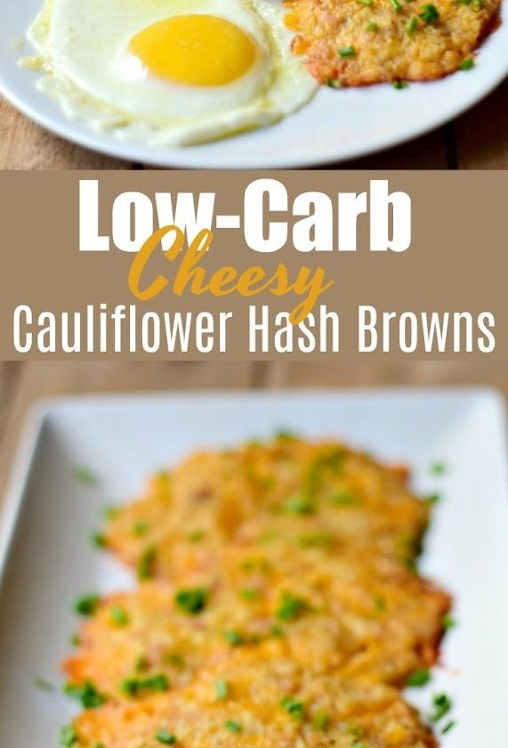 Low-Carb Cheesy Cauliflower Hash Browns - This low-carb cheesy cauliflower hash ...
