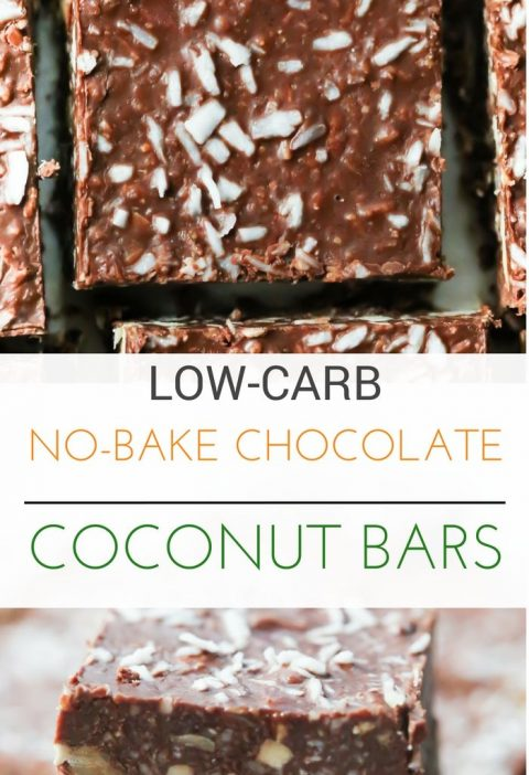 Low-Carb No-Bake Chocolate Coconut Bars