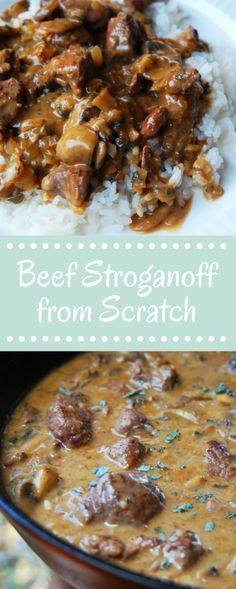 Make Beef Stroganoff from Scratch, it's so easy and so delicious. It'll ...