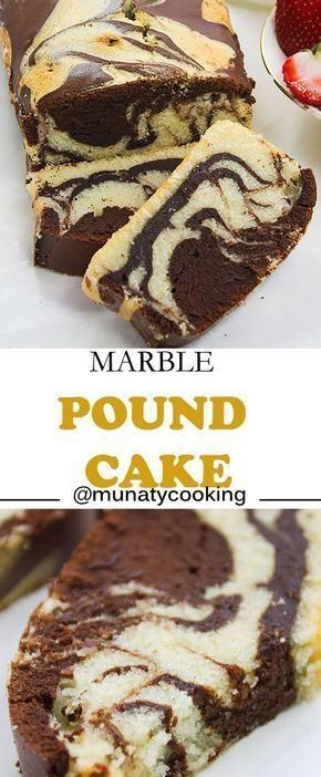 Marble pound cake recipe. A combination of two amazing flavors, authentic pound ...