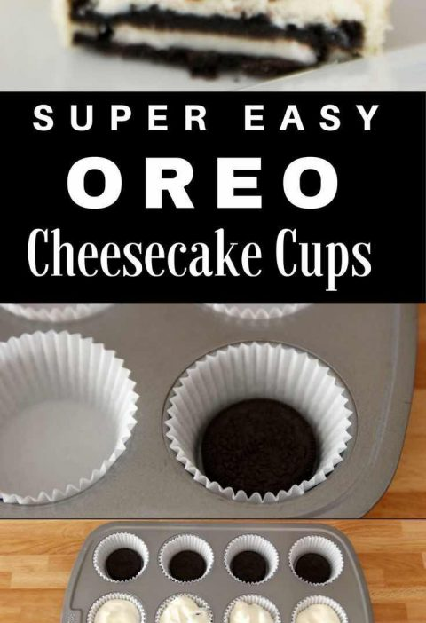 Mini Oreo Cheesecake Cupcakes – So delicious and super easy to make with only ...