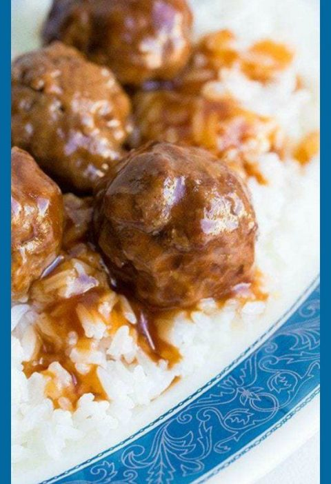 My Mom's sweet and sour meatballs recipe. These meatballs are baked in the oven ...