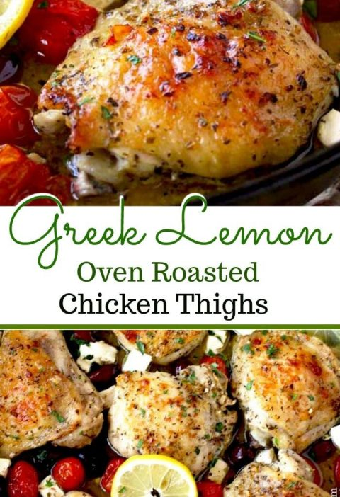 Oven Roasted Chicken Thighs are juicy, tender and absolutely delicious! Chicken...