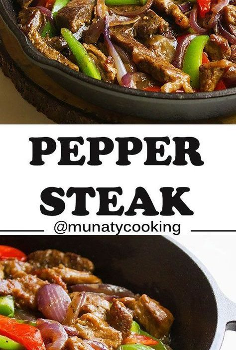 Pepper Steak. Fabulous easy recipe with sautéed, peppers, onions, and juicy ste...
